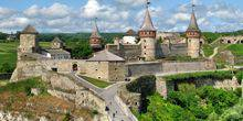 The old fortress (castle) Kamianets-Podilskyi