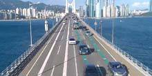 Webcam Busan - Traffic on the Kwanan Bridge