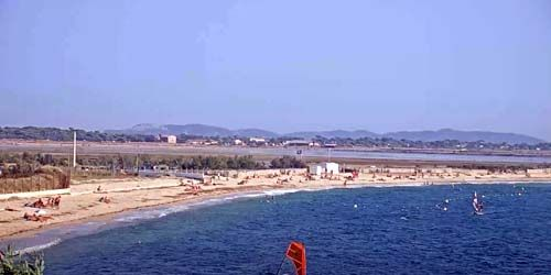 Webcam Hyeres - L'Almanard beach, panorama of the bay