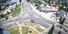 Webcam Kharkov - Crossroads of Lev Landau - Yubileiny Ave.