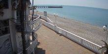 Webcam Sochi - Beach in the village of Lazarevskoye