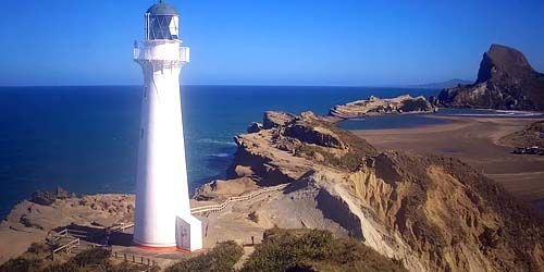 Webcam Wellington - Rocky Beach Lighthouse, Castlepoint Holiday Park