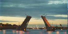 Webcam Saint Petersburg - View Pirogovskaya embankment and Liteiny bridge