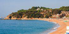 The beach in Lloret de Mar Barcelona
