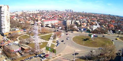 Webcam Odessa - Ring on the Lustdorf road and academician Glushko