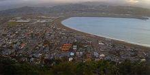 Webcam Wellington - Lyall Bay, view from a height