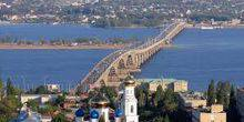 Webcam Saratov - The big bridge across the Volga river