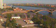 Webcam Krasnoyarsk - Communal bridge over the Yenisei river