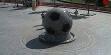 Ball fountain at Donbass Arena Donetsk