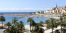 Webcam Menton - Embankment, view from the hotel Napoleon