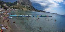 Webcam Sudak - Beach of the village of Novy Svet