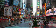 Webcam New York - Sightseeing turning Manhattan Times Square