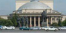 Webcam Novosibirsk - Opera house on Lenin square