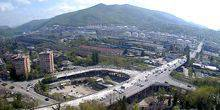 Panorama from the height, mountain view Tuapse