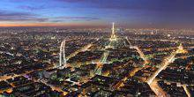 Panorama from height Paris