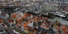 View from a height Augsburg