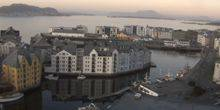 Panorama of the Sea port Alesund