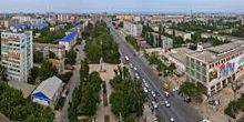 Panorama from height Makhachkala
