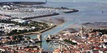 Panorama from height La Rochelle