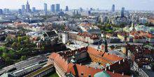 Panorama from height Warsaw
