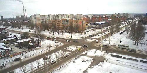 Webcam Volgodonsk - Streets of Gagarin and Enthusiasts, panorama from a height