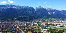 Panoramic view from the hotel Adlers Innsbruck