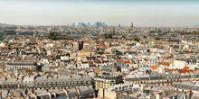 View of the city from a height Paris