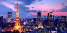 Panoramic view of the city Tokyo