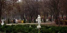 Fountain Park, the view from the Executive Committee Chornomorsk (Ilyichevsk)