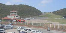 Webcam Gustavia - Parking at the airport