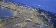 Webcam Trelleborg - Parking of trucks in the commercial port