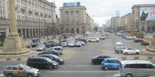 Webcam Warsaw - Parking on Constitution square