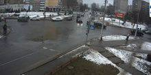 Webcam Borisov - The intersection on Gagarin street