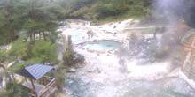 Webcam Kusatsu - Pergolas near the thermal baths
