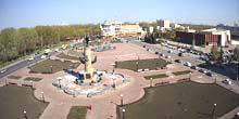 Webcam Lipetsk - Peter the Great Square, the singing fountain