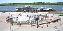 Webcam Astrakhan - Petrovsky Fountain on Central Embankment