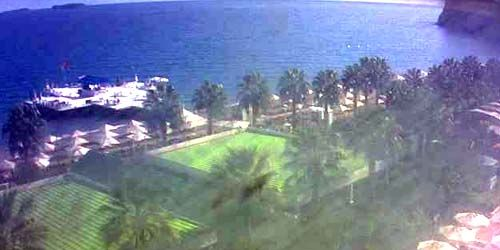 Webcam Kemer - Lounge pier in the hotel, view towards the paradise bay
