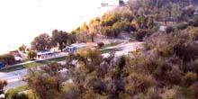 Webcam Zaporozhye - Panoramic coast, Khortitsa island, river pier