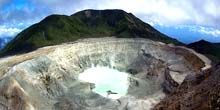 Webcam San Jose - View of the crater of Poas volcano