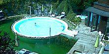 Webcam Salzburg - Swimming pool at hotel Theresia