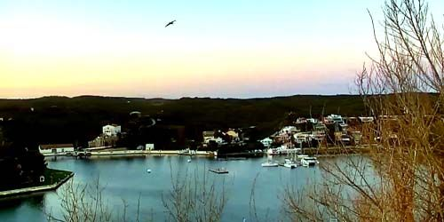 Webcam Mahon (Balearic Islands) - Sea port, bay panorama