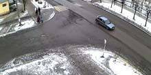 Webcam Kondopoga - Crossroads of Proletarskaya and Shezhemsky Streets