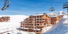 Ski resort in the Pyrenees at an altitude of 2000 meters Albertville