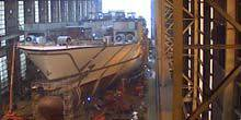 Webcam Flensburg - Repair dock at the port