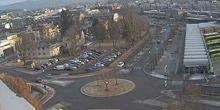 Webcam Lillestrom - The ring in front of Bus stations from the town Hall