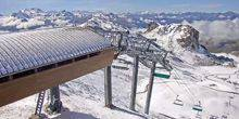 Webcam Saint-Bon-Tarentaise - Panorama of the ski resort Roche de Mio