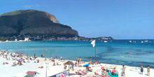 Webcam Palermo (Sicily) - Sandy beach of the village of Mondello
