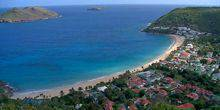 A beautiful Bay overlooking the Shevro island Saint Barthelemy