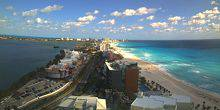 Webcam Cancun - The beaches on the coast