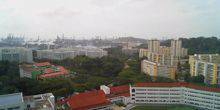 Webcam Singapore - View of the seaport from a height
